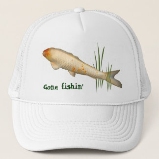 Koi Design - Gone Fishin' Trucker Hat