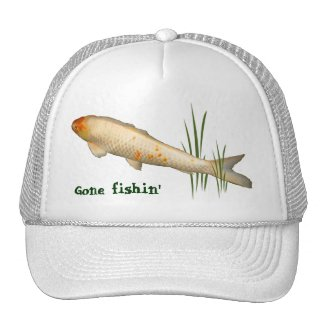 Koi Design - Gone Fishin' Trucker Hat