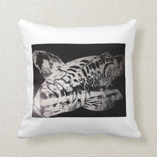 Koi Design Humble Roots Art Hawaii Throw Pillow
