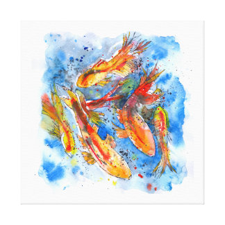 Koi fish art framed artwork zazzle for Koi prints canvas