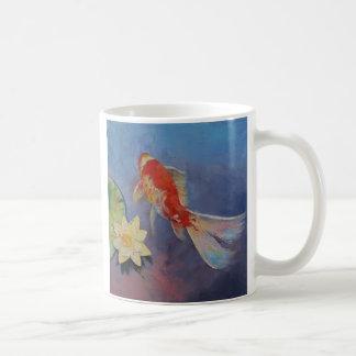 Koi en azul y de color de malva taza clásica