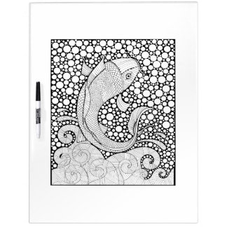 Koi Fish Adult Coloring Dry-Erase Board