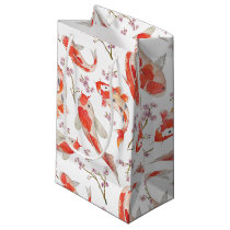 Koi Fish and Cherry Blossom Pattern Small Gift Bag