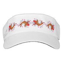 Koi fish and flower visor