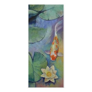 Koi Fish and Lilies Card