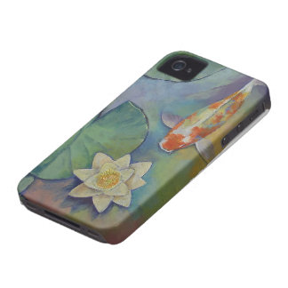 Koi Fish and Lilies iPhone 4 Cover