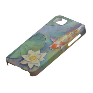 Koi Fish and Lilies iPhone SE/5/5s Case