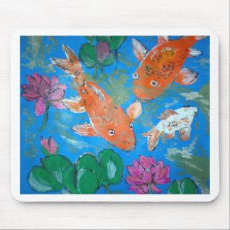 Koi Fish and Lotus lilys Mouse Mat