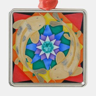 Koi Fish and Lotus Ornament
