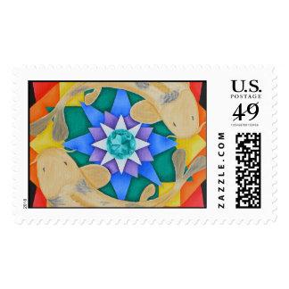 Koi Fish and Lotus Postage