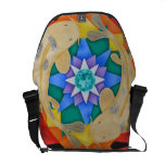 Koi Fish and Lotus Rickshaw Messenger Bag
