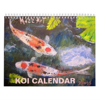 Koi Fish Art Calendar