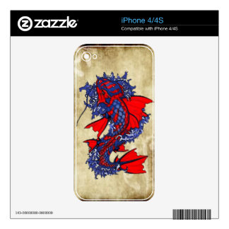 Koi Fish Art Skin for Cell Phones Decals For The iPhone 4S