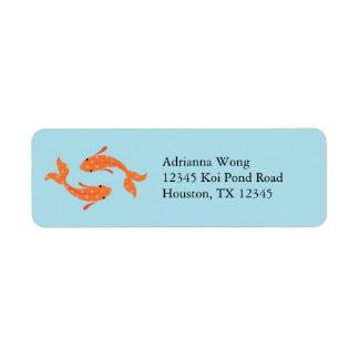 Koi Fish Avery Label