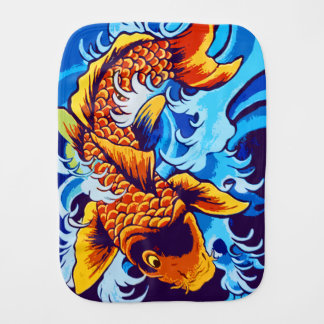 Koi Fish Baby Burp Cloth