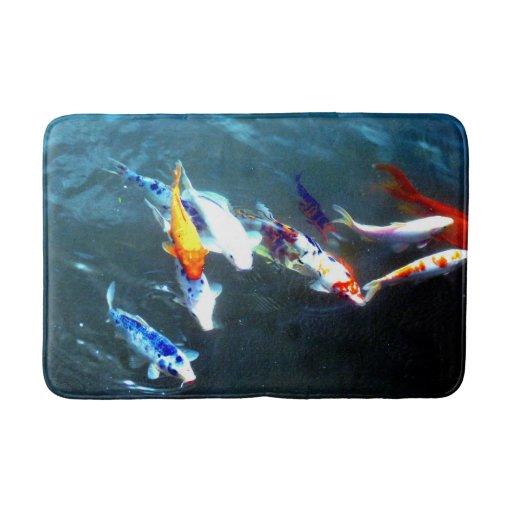 Koi Fish Bath Mat Zazzle