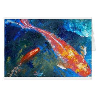Koi Fish Beauty Card
