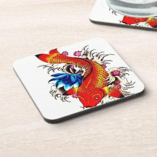 Koi Fish Beverage Coasters
