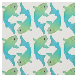 Koi fish fabric zazzle for Fish pattern fabric