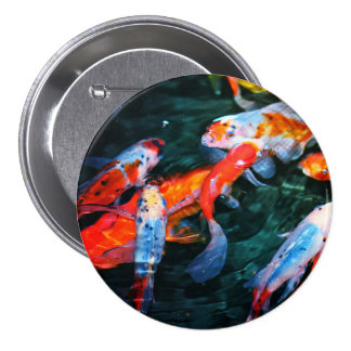 Koi Fish 3 Inch Round Button