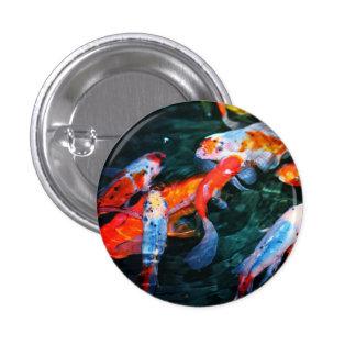 Koi Fish 1 Inch Round Button