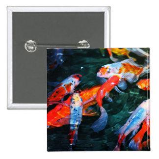 Koi Fish 2 Inch Square Button
