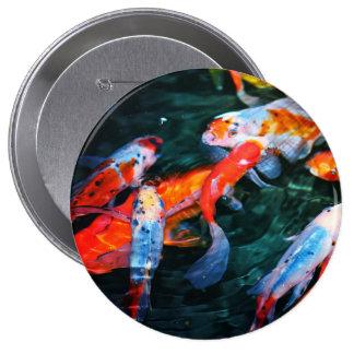 Koi Fish 4 Inch Round Button