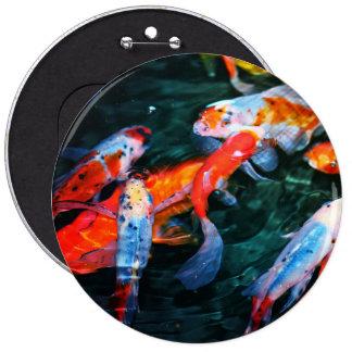 Koi Fish 6 Inch Round Button