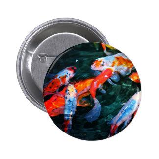 Koi Fish 2 Inch Round Button
