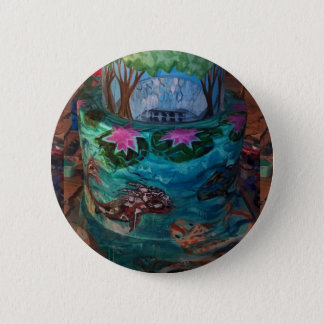 Koi Fish Cake At Missouri Botanical Garden Pinback Button