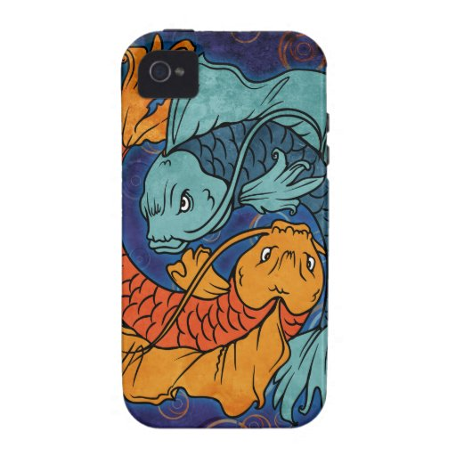 Koi Fish Vibe iPhone 4 Cases