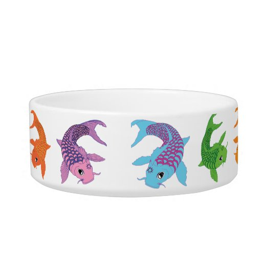 Koi fish cat bowl zazzle for Koi fish bowl