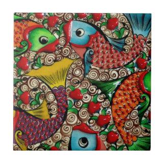 Koi Fish Ceramic Tile