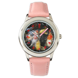 Koi Fish Chinese Numeral Character (Red font) Wristwatch