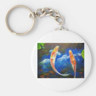 Koi Fish Cloud Reflections Keychain
