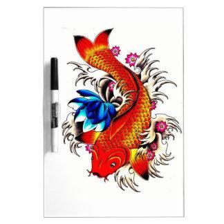 Koi Fish Dry Erase Board