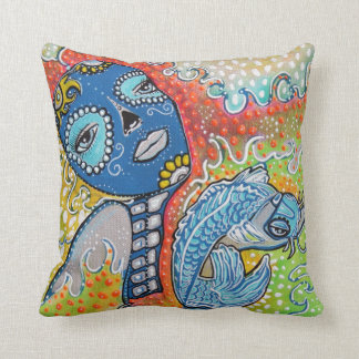 Koi Fish Fantasy Pillow