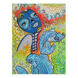 Koi Fish Fantasy Postcard
