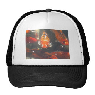 Koi Fish glide among the still green  waters Trucker Hat