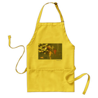 Koi Fish in a Lily Pond Adult Apron