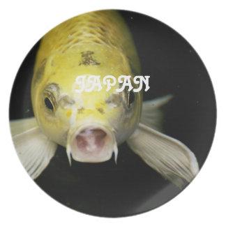 Koi Fish in Japan Dinner Plate