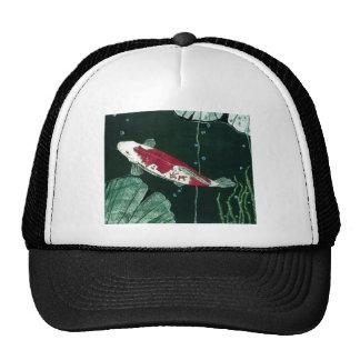Koi Fish In Pond Mesh Hat