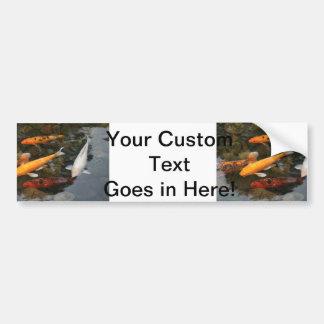Koi Fish In Pond Photograph Bumper Sticker