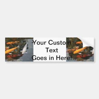 Koi Fish In Pond Photograph Bumper Stickers