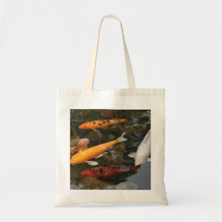 Koi Fish In Pond Photograph Tote Bag