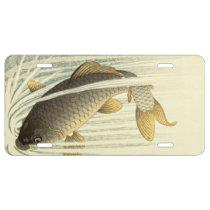 Koi Fish Japanese Vintage License Plate