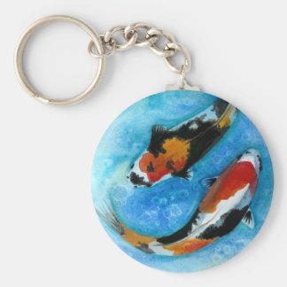 Koi Fish Basic Round Button Keychain