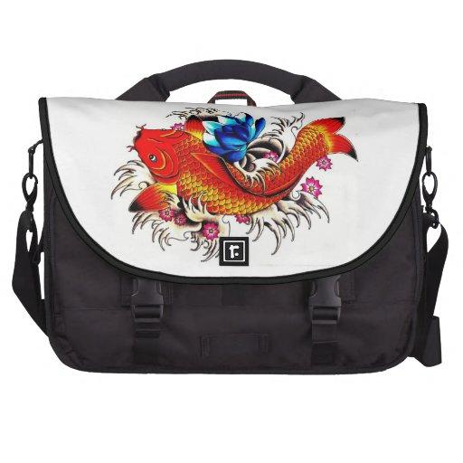 Koi fish laptop bag zazzle for Koi fish purse