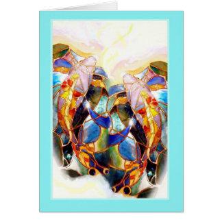 Koi Fish Lovers Romantic Summer Greeting Card