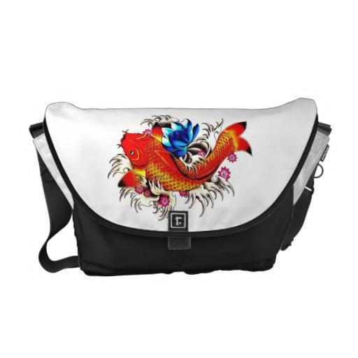 Koi fish messenger bag zazzle for Koi fish purse